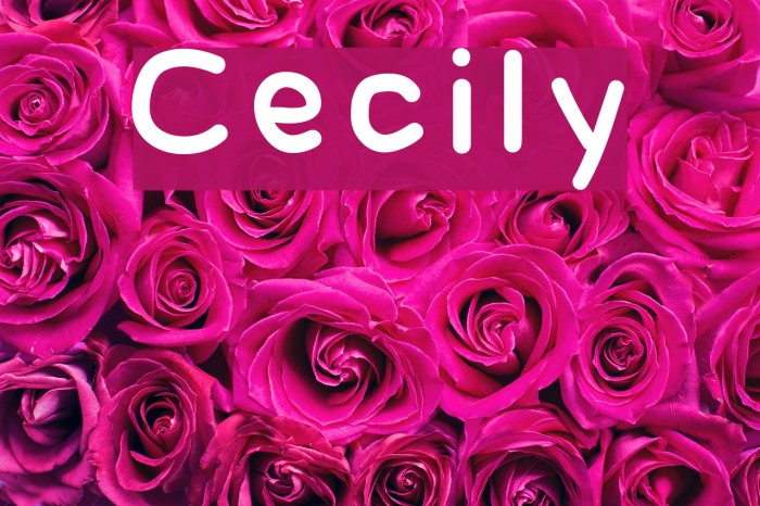 Cecily Font examples
