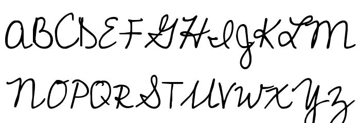 Cedarville Cursive Font UPPERCASE