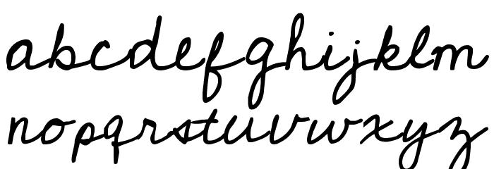 Cedarville Cursive Font LOWERCASE
