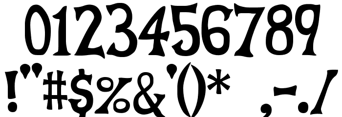 Celestia Medium Redux Font OTHER CHARS