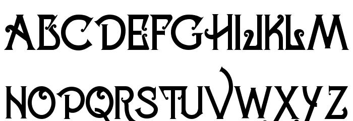 Celestial Typeface Schriftart Groß