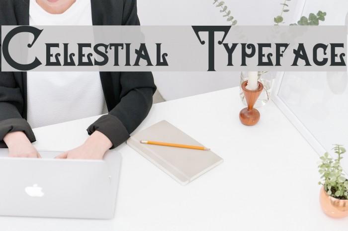 Celestial Typeface Schriftart examples