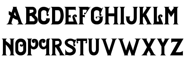 Celestial Typeface Schriftart Kleinbuchstaben