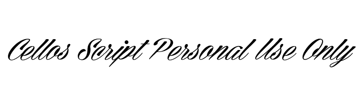 Cellos Script Personal Use Only  Descarca Fonturi Gratis