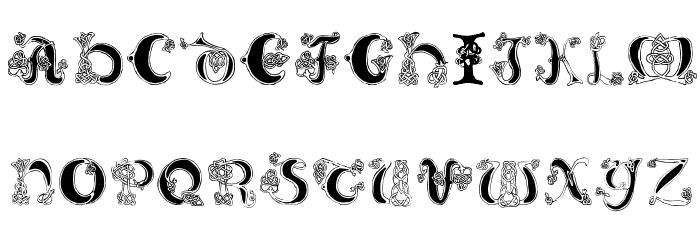 Celtic Knot Font UPPERCASE