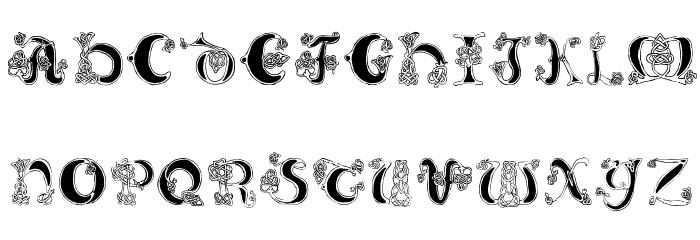 Celtic Knot Font LOWERCASE