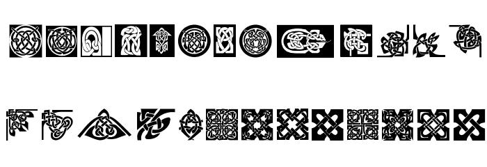 CeltishParts Font UPPERCASE