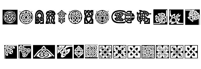 CeltishParts Font LOWERCASE
