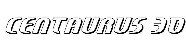 Centaurus 3D  Скачать бесплатные шрифты