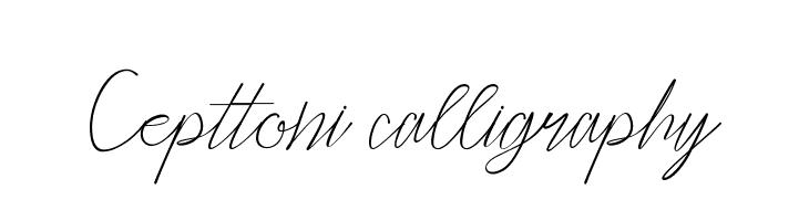 Cepttoni calligraphy  baixar fontes gratis
