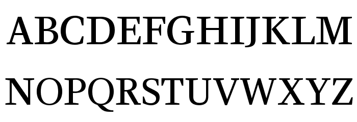 CeriseOpti-Regular Font UPPERCASE