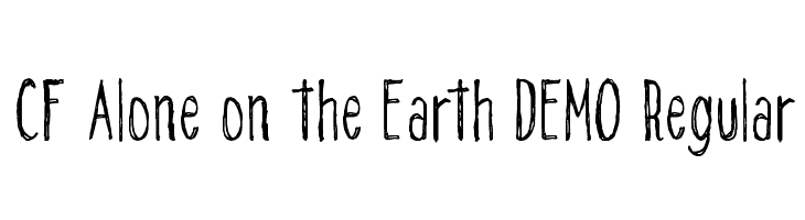 CF Alone on the Earth DEMO Regular  font caratteri gratis