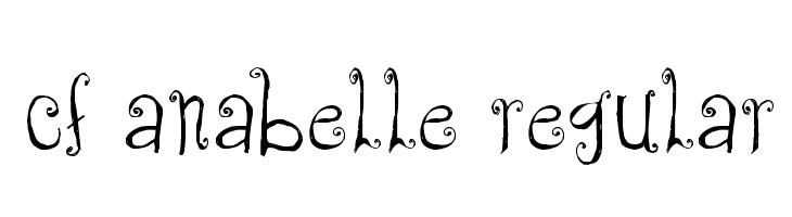 CF Anabelle Regular  Free Fonts Download