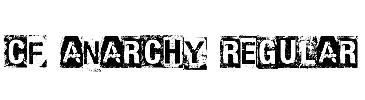 CF Anarchy Regular  フリーフォントのダウンロード