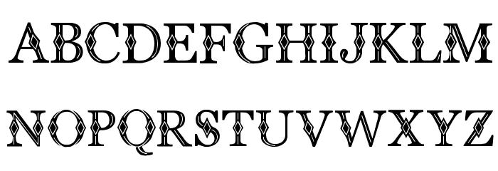 CF Diamond Regular Font UPPERCASE