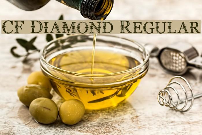 CF Diamond Regular Font examples