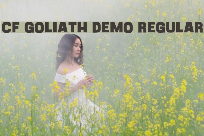 CF Goliath Demo Regular Font examples