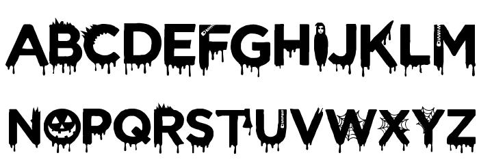 CF Halloween Regular フォント 大文字