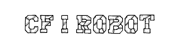 CF I Robot フォント