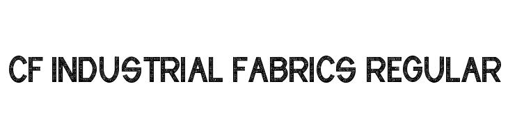 CF Industrial Fabrics Regular  Скачать бесплатные шрифты