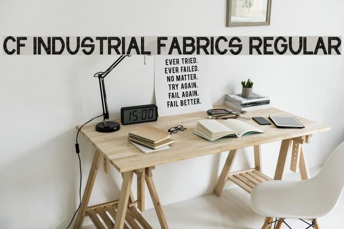 CF Industrial Fabrics Regular फ़ॉन्ट examples