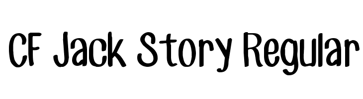 CF Jack Story Regular  Free Fonts Download