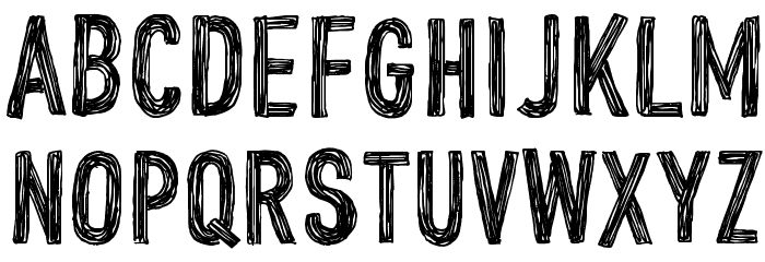 CF John Doe PERSONAL USE Regular Font UPPERCASE