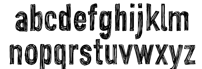 CF John Doe PERSONAL USE Regular Font LOWERCASE