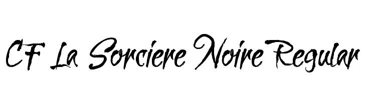 CF La Sorciere Noire Regular Font