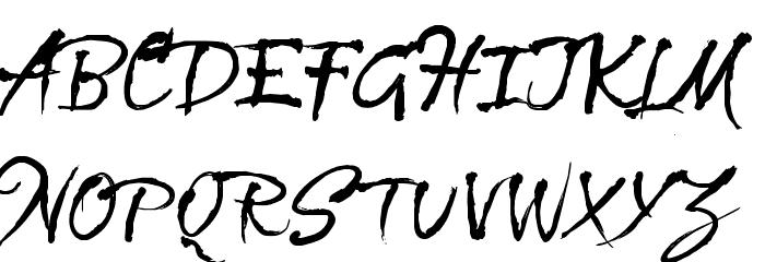 CF La Sorciere Noire Regular Font UPPERCASE