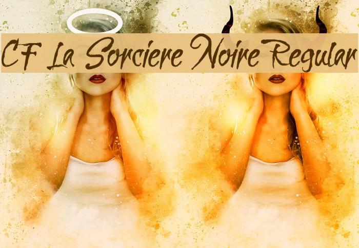 CF La Sorciere Noire Regular Font examples