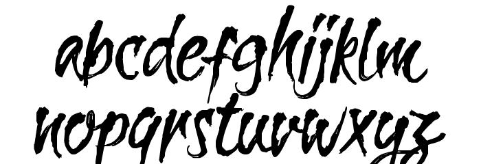 CF La Sorciere Noire Regular Font LOWERCASE