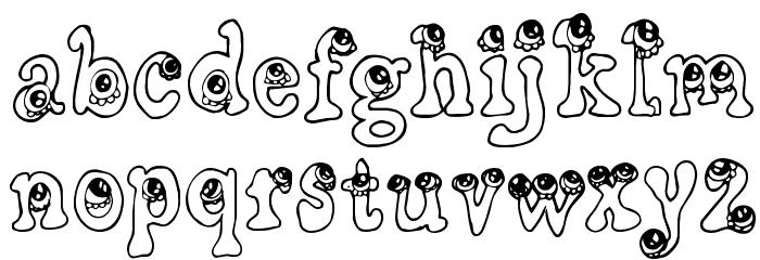 CF Little Monsters Regular Font UPPERCASE