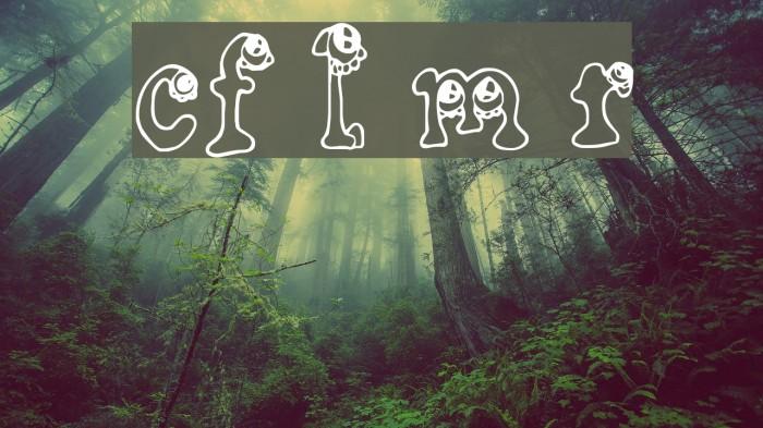 CF Little Monsters Regular Font examples