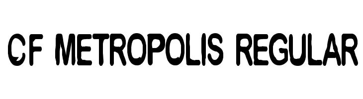 CF Metropolis Regular  Free Fonts Download