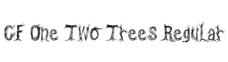CF One Two Trees Regular  Скачать бесплатные шрифты