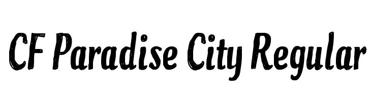 CF Paradise City Regular  Free Fonts Download