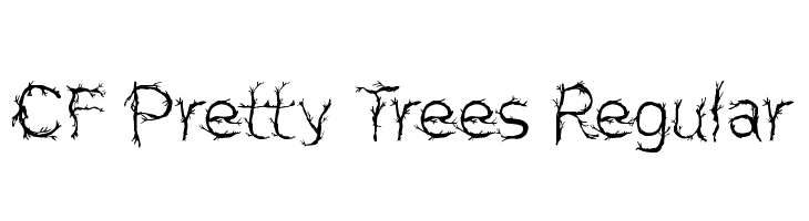 CF Pretty Trees Regular Font