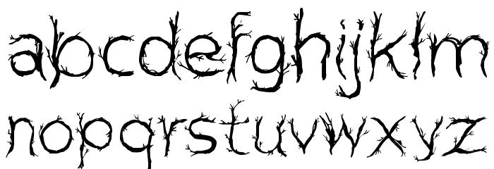 CF Pretty Trees Regular Font LOWERCASE