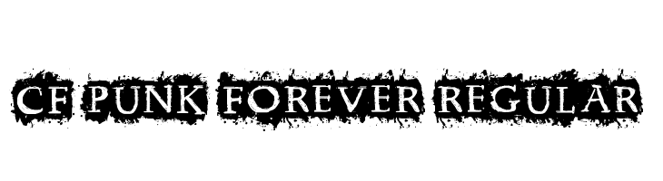 CF Punk Forever Regular  Descarca Fonturi Gratis
