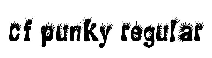 CF Punky Regular  フリーフォントのダウンロード