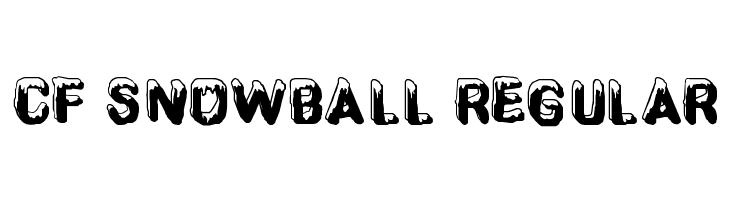 CF SnowBall Regular  Free Fonts Download