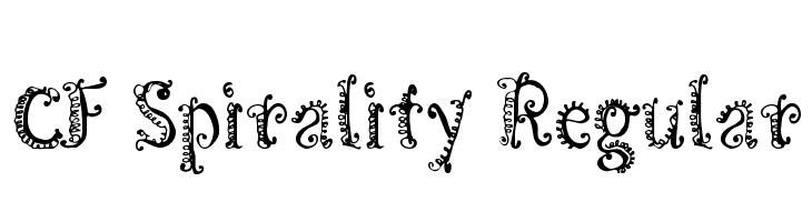 CF Spirality Regular  Free Fonts Download