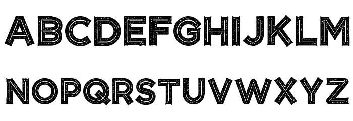 CF Tangerine Grunge Regular Caratteri MAIUSCOLE
