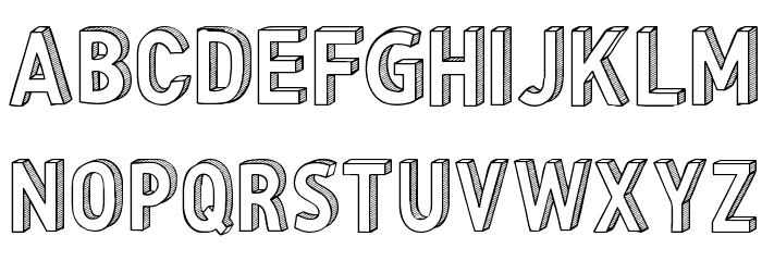CF Three Dimensions Personal Regular Font UPPERCASE