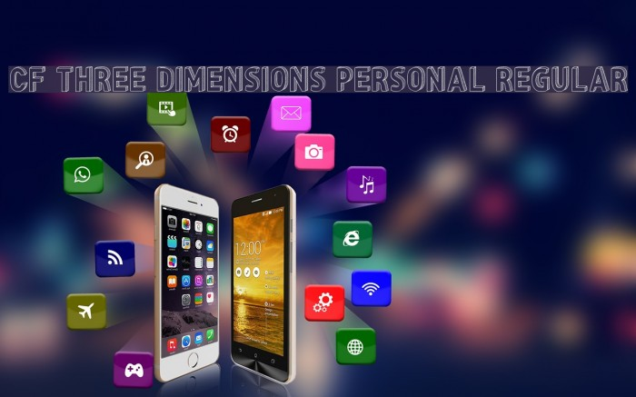 CF Three Dimensions Personal Regular Schriftart examples