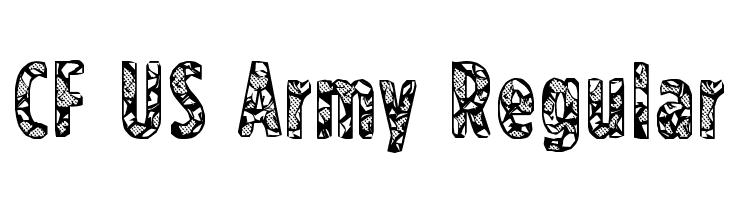 CF US Army Regular  baixar fontes gratis