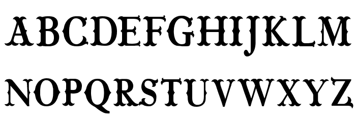 CF Wild West PERSONAL Regular Font LOWERCASE