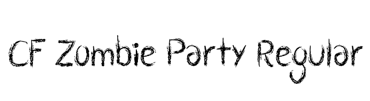CF Zombie Party Regular  Free Fonts Download