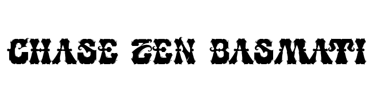 CHASE ZEN BASMATI  Free Fonts Download